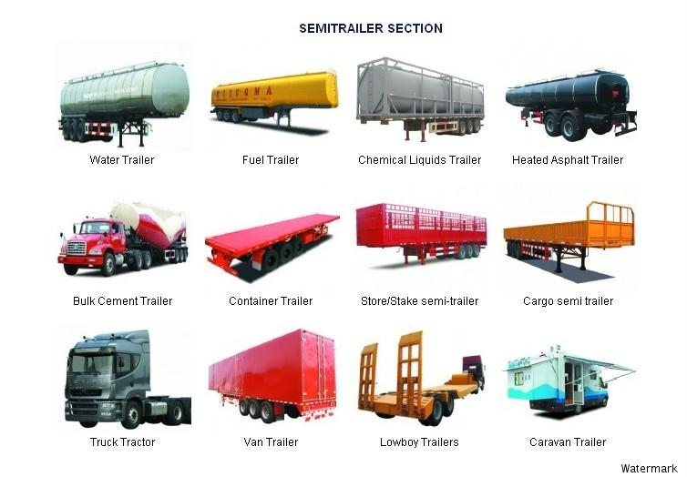 Different types of semi-trailers are designed to haul different ...