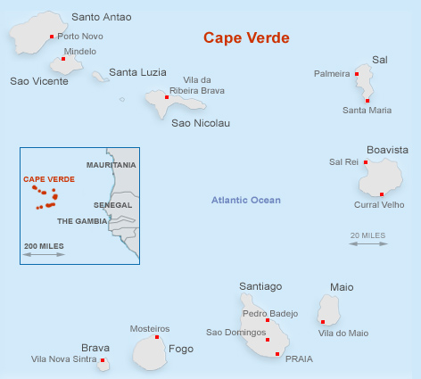 cape verde in West Africa