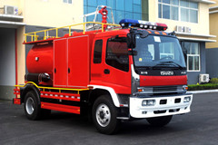 water & foam fire truck