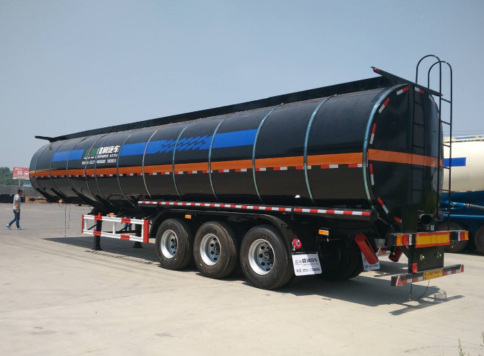 40cbm 3 axle liquid pitch tank semi-trailer with insulated layer