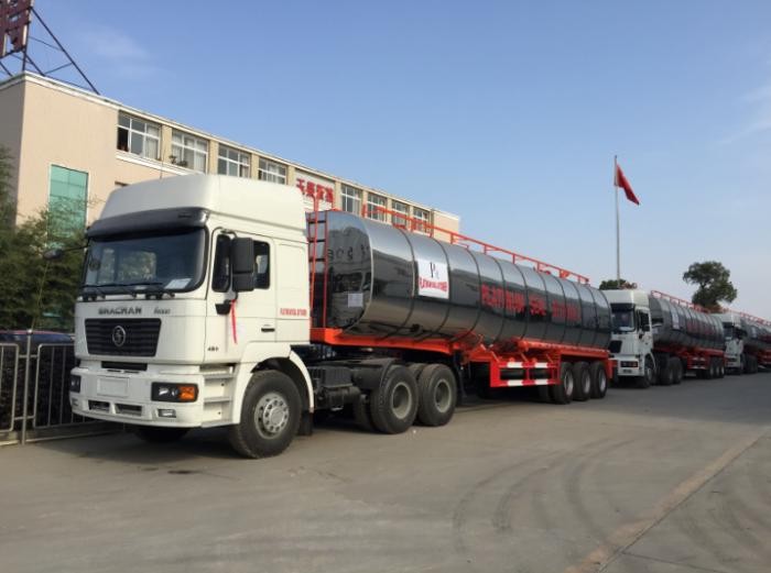 50,000 liters 3 axle bitumen insulation tank semi-trailer