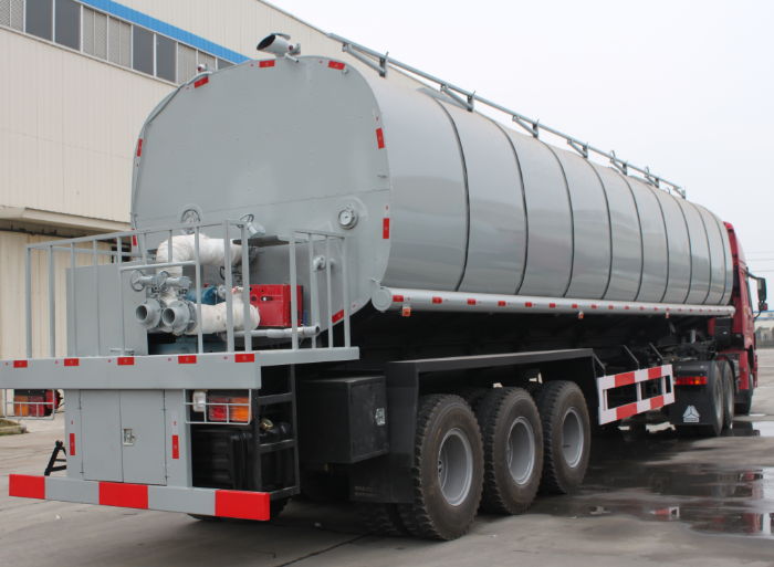 35CBM thermal insulation tank semi-trailer for liquid bitumen