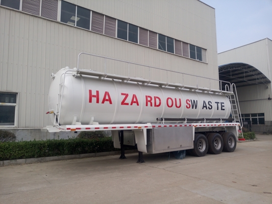 30,000 liters waste water suction tank semi trailer