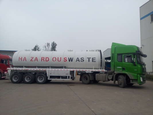 Vacuum suction sewage tanker trailer 35,000 liters
