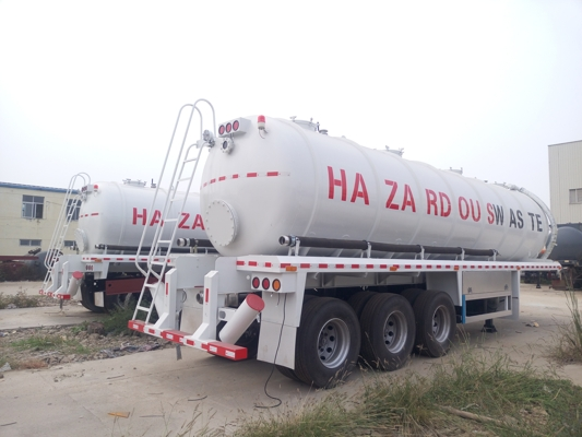 35CBM 3 axle Fescal suction tank trailer
