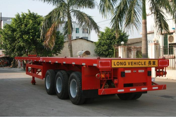 3 axle 40FT container flat bed semi-trailer