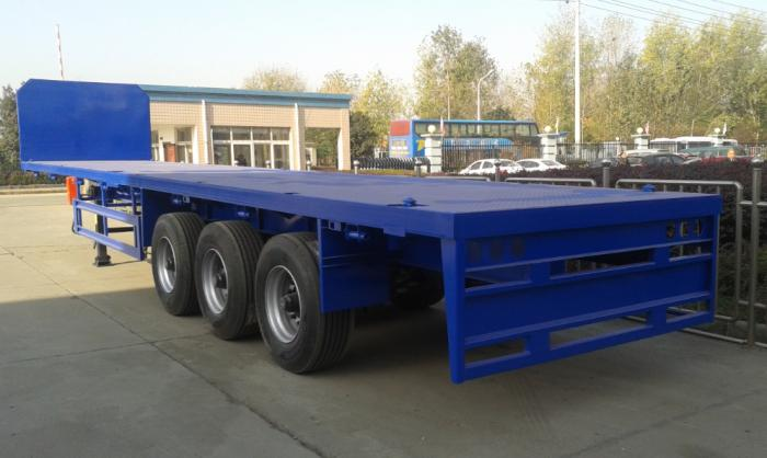 60Ton flat bed container semi-trailer