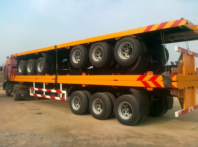 3 axle 40FT flat bed container semi-trailer