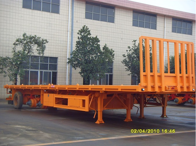 60Ton 40FT flat bed container semi-trailer