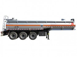 3 axles sulfuric acid tanker trailer