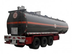 Tri-axle sodium hydroxide tanker trailer chemical tanker trailer