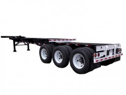 20' - 40' extension skeleton semi trailer light duty 30 tons chassis