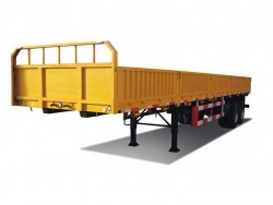 2 axles 40ft side wall flatbed trailer