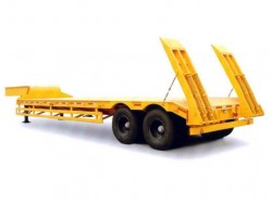 tandem axles 35 tons lowbed trailer
