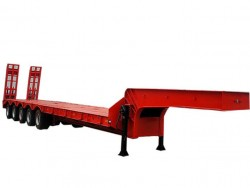 70 tons 5 axles straight beam lowbed semi trailer