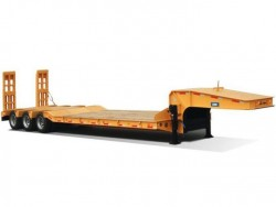 Heavy duty 50 tons tri-axle low bed truck trailer